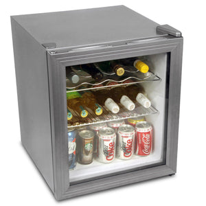 Mini Wine Fridge - Silver - Home Happy Hour
