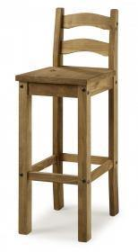 Two piece light pine bar stool