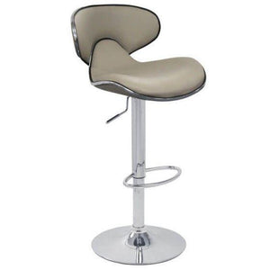 Cushioned bar stool - white, grey or red