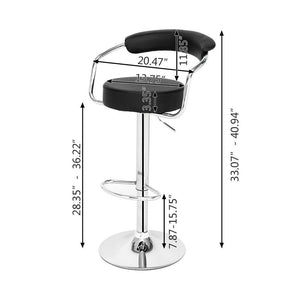 Two Piece Round Back Cushion Bar Stool