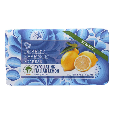 Desert Essence - Bar Soap - Exfoliating Italian Lemon - 5 oz - FLJ CORPORATIONS