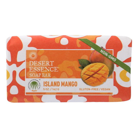 Desert Essence - Bar Soap - Island Mango - 5 oz - FLJ CORPORATIONS