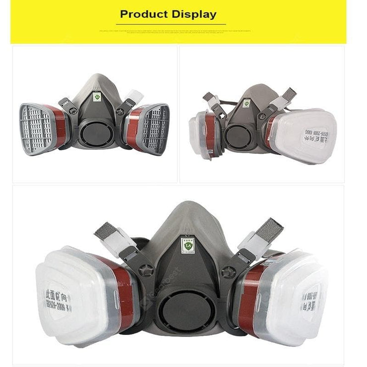 Self-priming filter gas mask full face protective Respirator Activated Carbon mask - FLJ CORPORATIONS