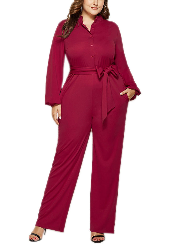 Long Sleeve V Neck Leg Jumpsuits - FLJ CORPORATIONS