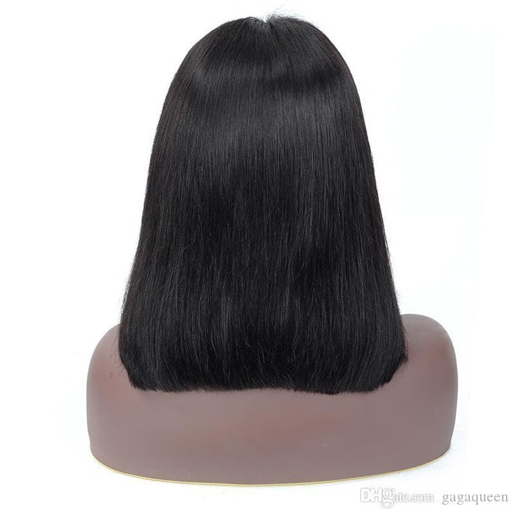 4x4 Lace Bob Straight Hair Wigs Brazilian Virgin Hair Straight Lace Frontal Human Hair Wigs Swiss Lace Frontal Wig Gaga queen - FLJ CORPORATIONS