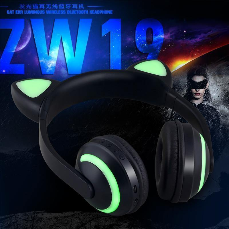 Bluetooth headset Cartoon cute cool Cat ear EL lighting stereo headphone wireless headphone,various colors for choices (sorry, item discontinued)
