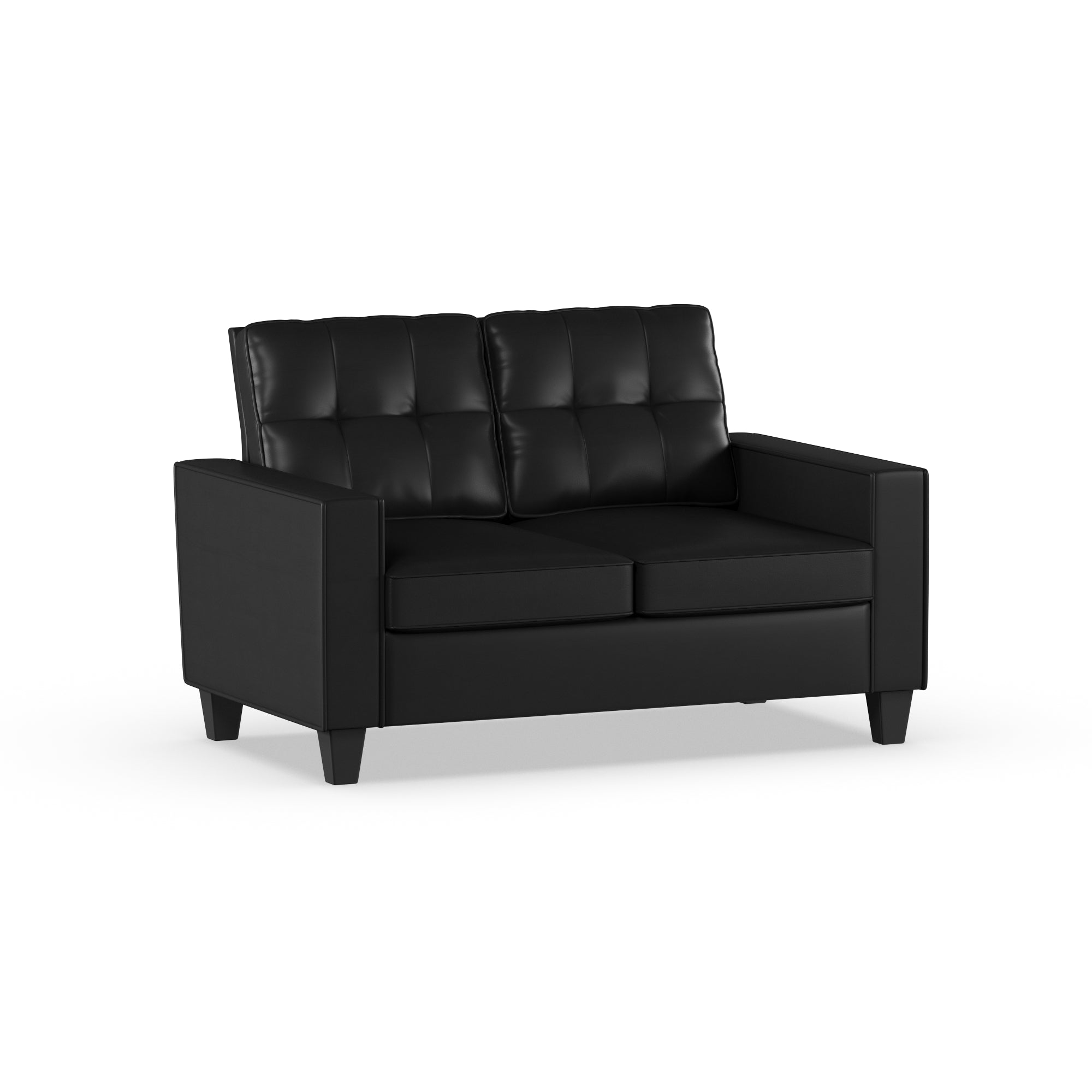 Mainstays Faux Leather Apartment Loveseat, Multiple Colors - FLJ CORPORATIONS