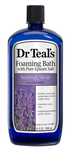(2 pack) Dr Teal's Soothe & Sleep with Lavender Foaming Bath, 34 oz - FLJ CORPORATIONS