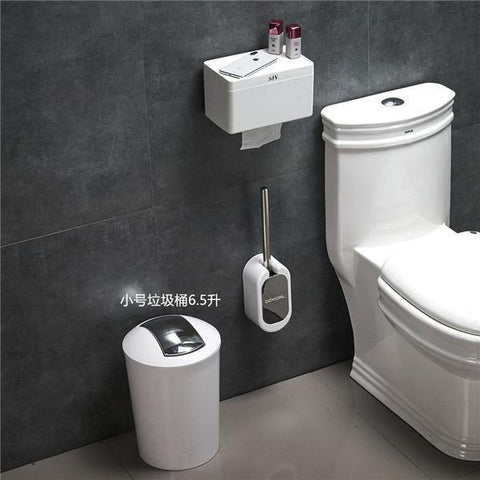 Creative European Toilet Brush Set Walls mount Toilet Brush holder with dust bin and paper holder for bathroom accessories set