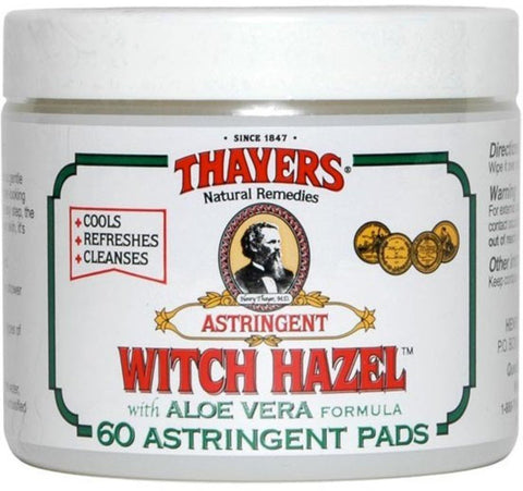 Thayers Natural Remedies Witch Hazel Astringent Pads, Original, 60 Ea - FLJ CORPORATIONS