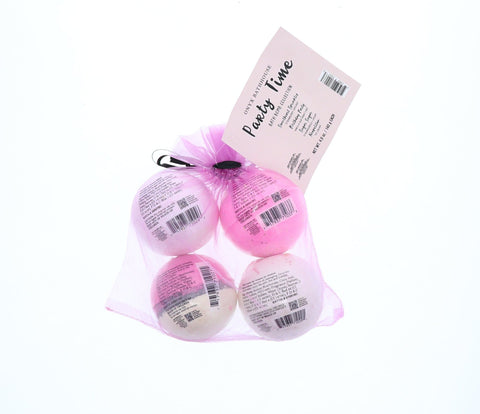 Onyx Party Time Bath Bomb Bundle, 4 Ct, 4.9 Oz - FLJ CORPORATIONS