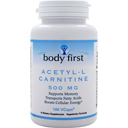 Body First Acetyl-L Carnitine (500mg) 100 vcaps - FLJ CORPORATIONS