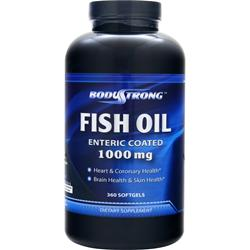 BodyStrong 100% Pure Fish Oil (1000mg) - Enteric Coated 360 sgels - FLJ CORPORATIONS