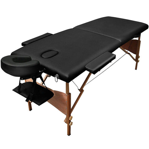 "Goplus 84""L Portable Massage Table Facial SPA Bed Tattoo w/Free Carry Case Black - FLJ CORPORATIONS"