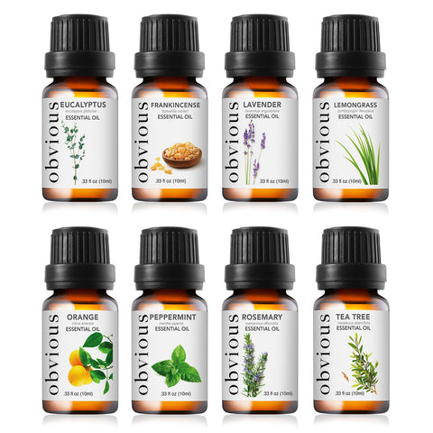Top 8 Essential Oils for Aromatherapy - Therapeutic Grade Oil Sampler Gift Set (10ml bottles) - FLJ CORPORATIONS