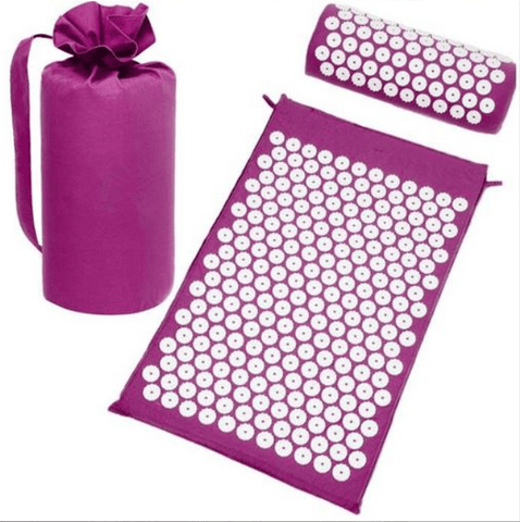 Back Neck pain relief acupressure mat with pillow  and carrying bag massage - FLJ CORPORATIONS