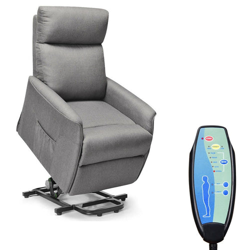 Costway Electric Power Lift Massage Chair Recliner Sofa Fabric Padded Seat w/Remote Home - FLJ CORPORATIONS