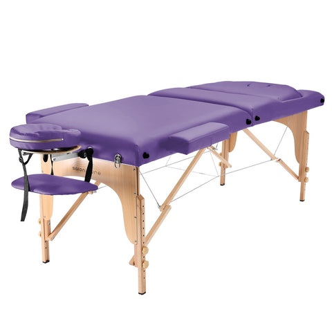 Saloniture Professional Portable Massage Table with Backrest - Lavender - FLJ CORPORATIONS