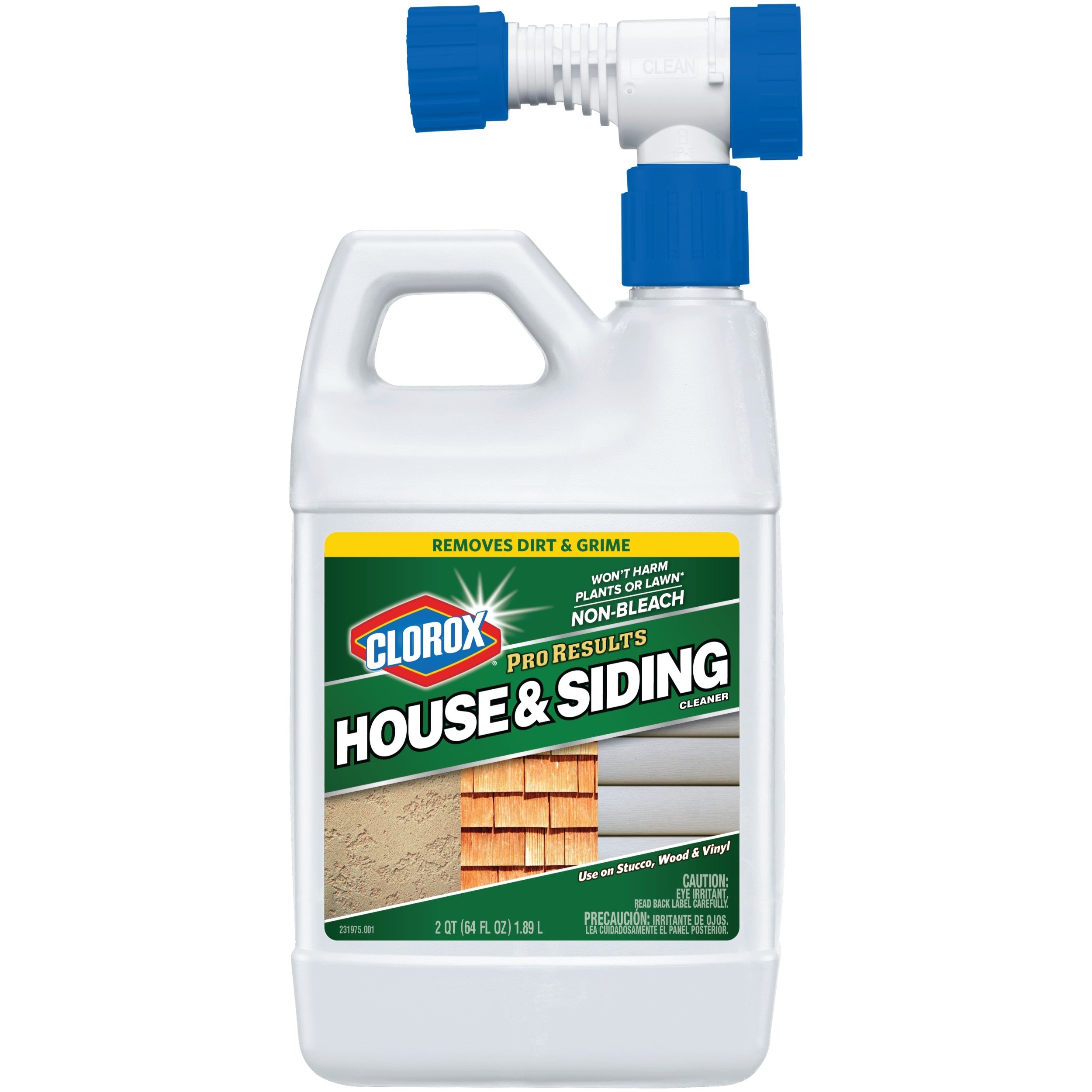 Clorox Pro Results House & Siding Cleaner, Bleach Free Outdoor Cleaner, 64 oz Bottle - FLJ CORPORATIONS