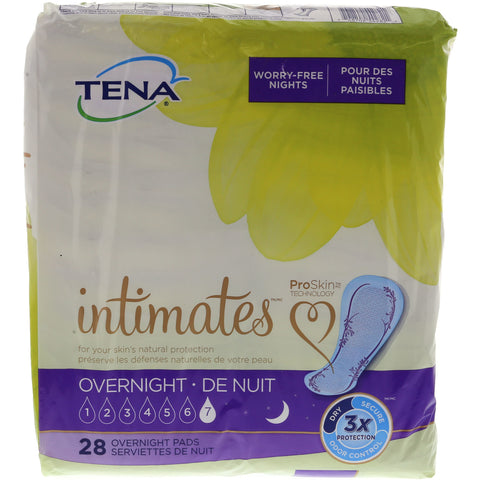 Tena Intimates Overnight Leakage Protection Pads 28 Pads per Pack