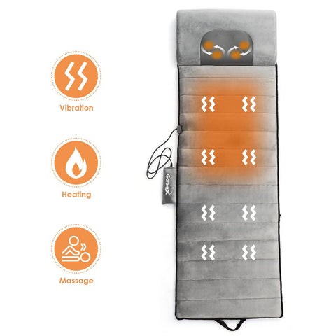 Foldable Full Body Massage Mat Heated Neck Massager w/ 5 vibration modes - FLJ CORPORATIONS