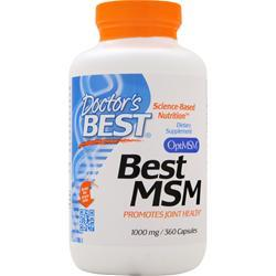 Doctor's Best Best MSM (1000mg) 360 caps - FLJ CORPORATIONS