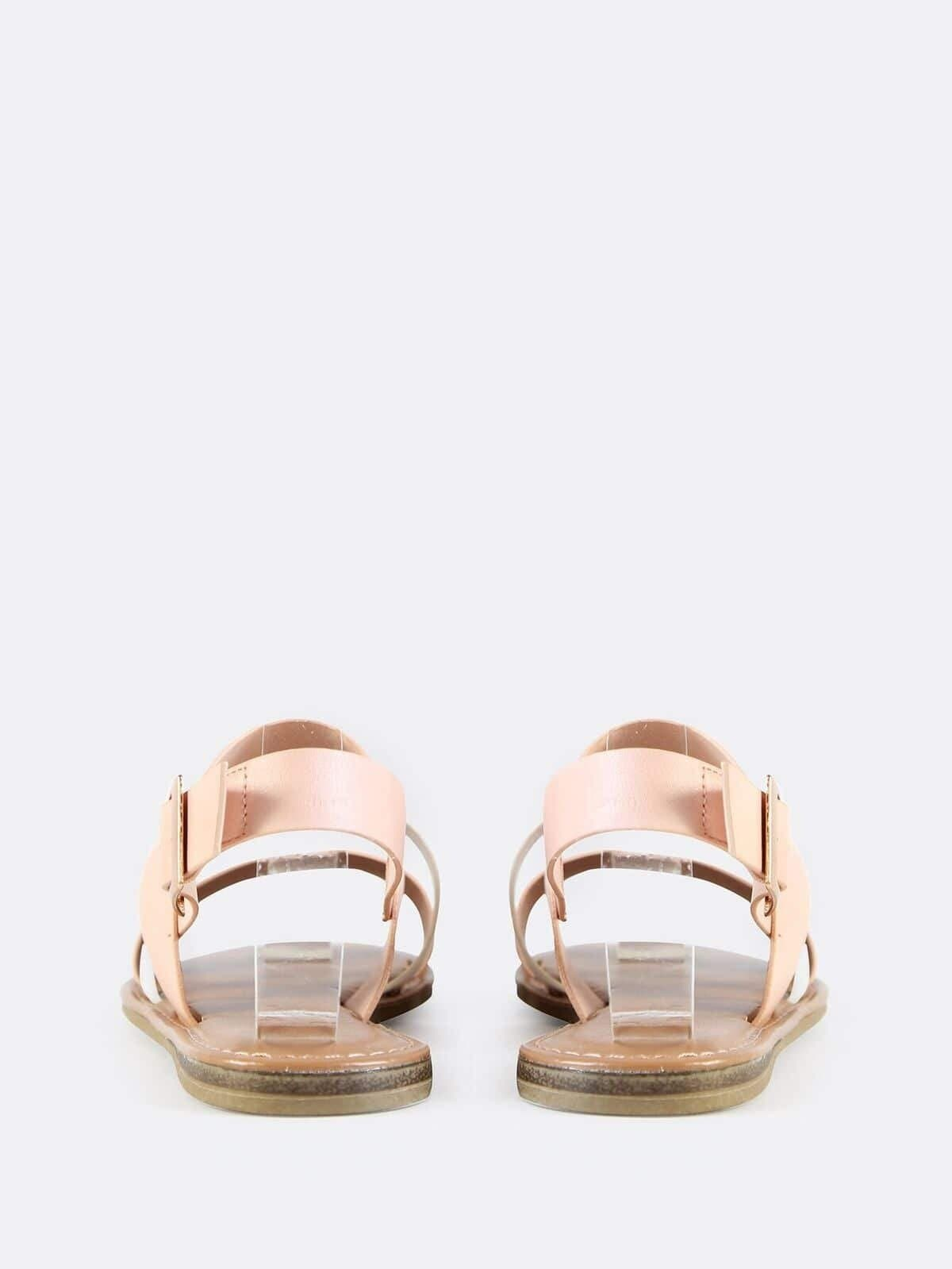 Sling Back Triple Band Sandals ROSE GOLD MULTI - FLJ CORPORATIONS
