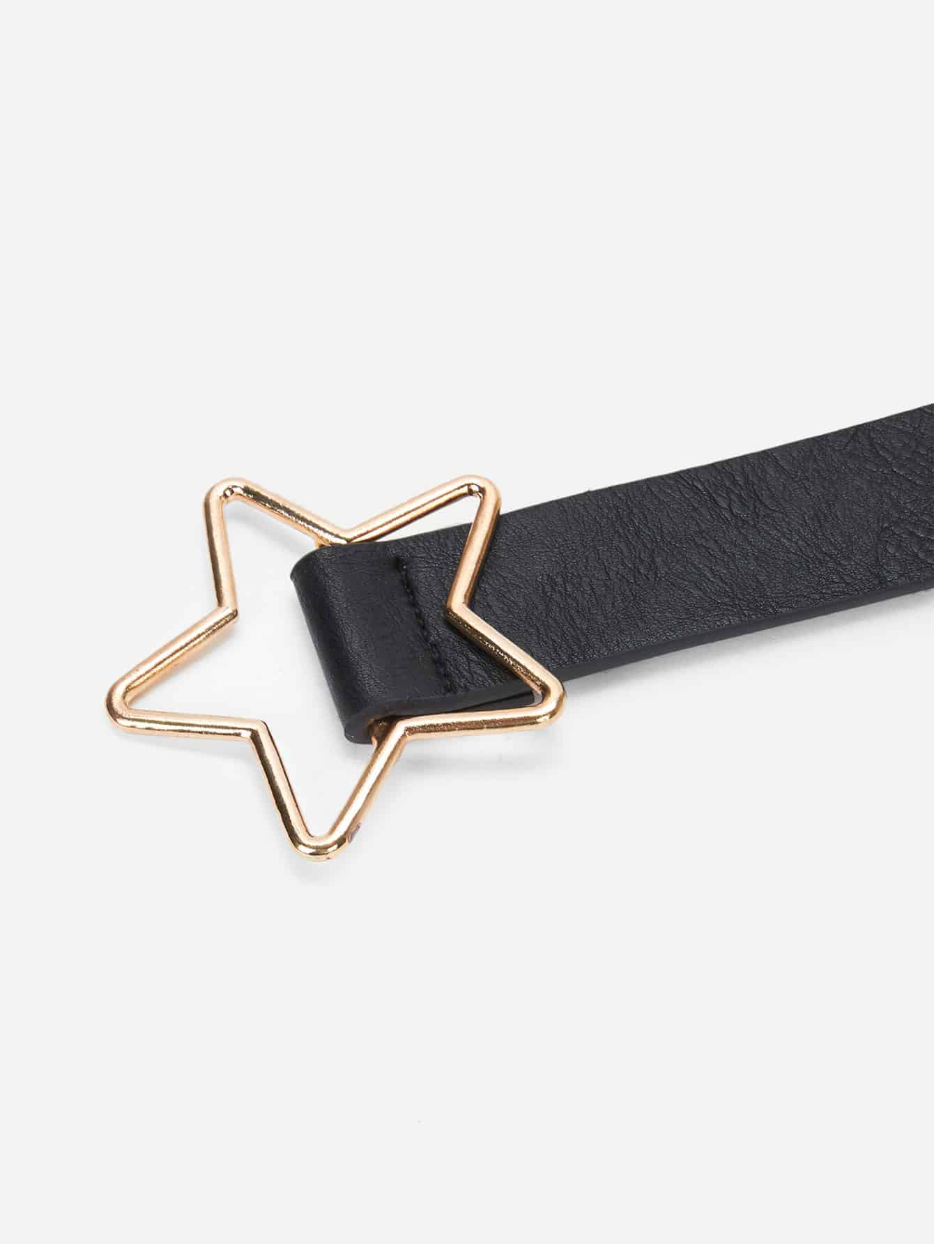 Metal Star Shaped Buckle Belt - FLJ CORPORATIONS