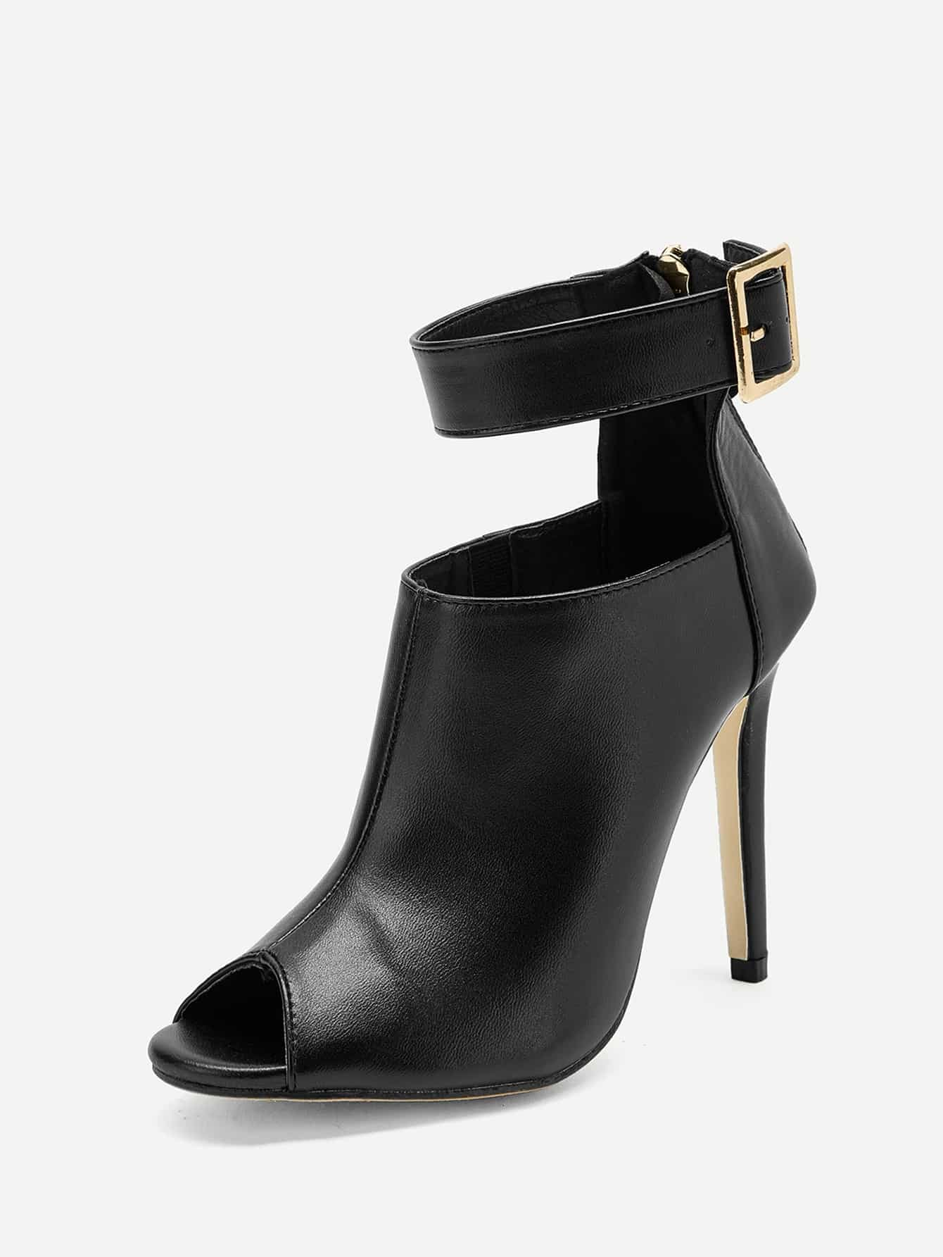 Solid Ankle Strap Stiletto  Heels - FLJ CORPORATIONS