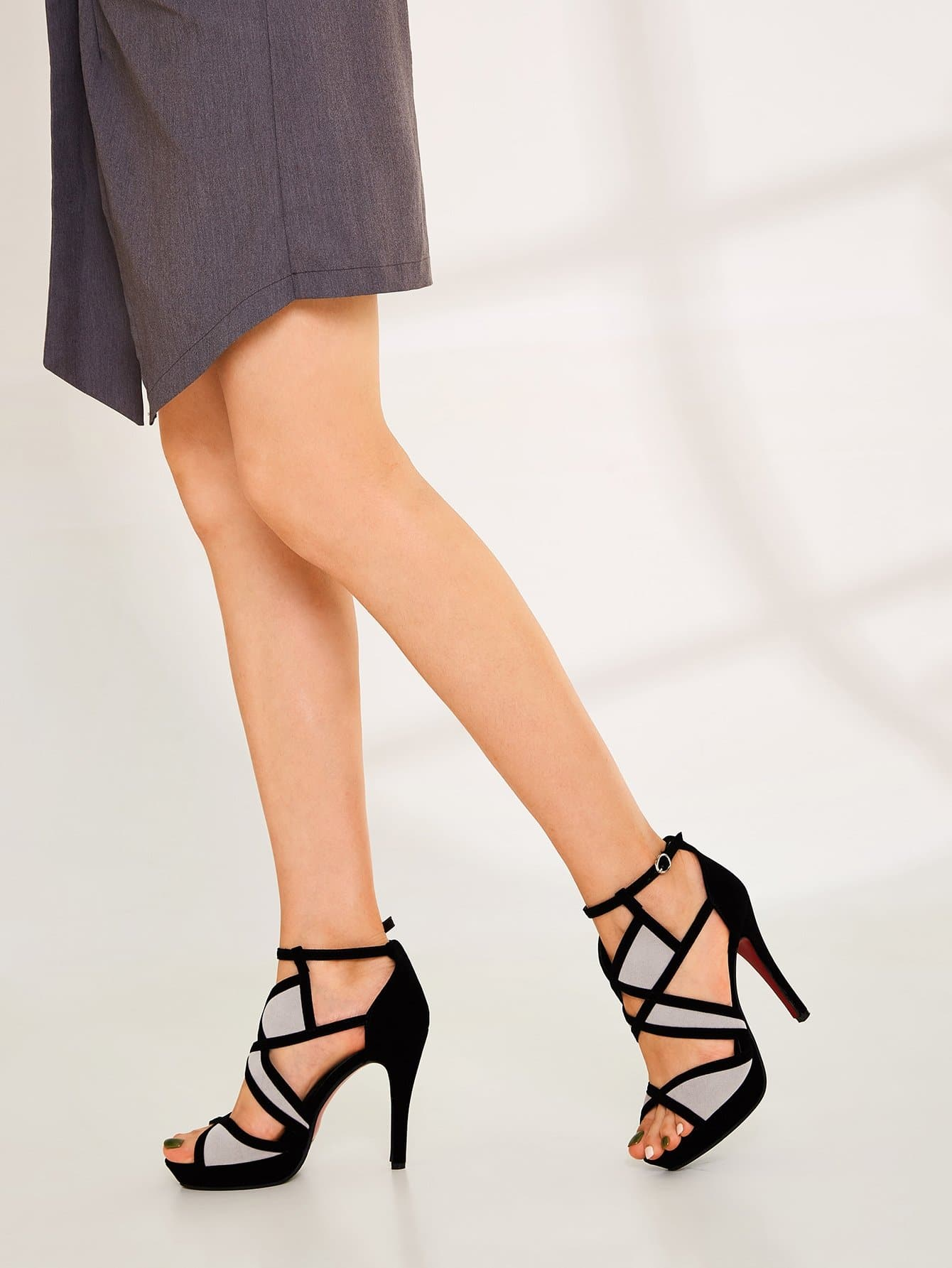 Peep Toe Ankle Strap Sandals - FLJ CORPORATIONS