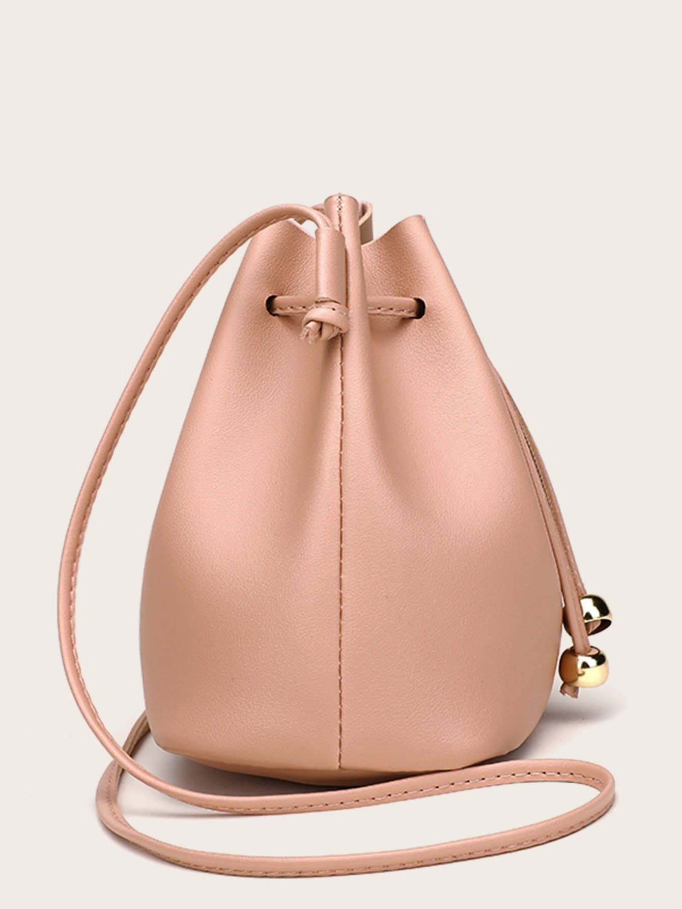 Bucket Crossbody Bag With Drawstring - FLJ CORPORATIONS