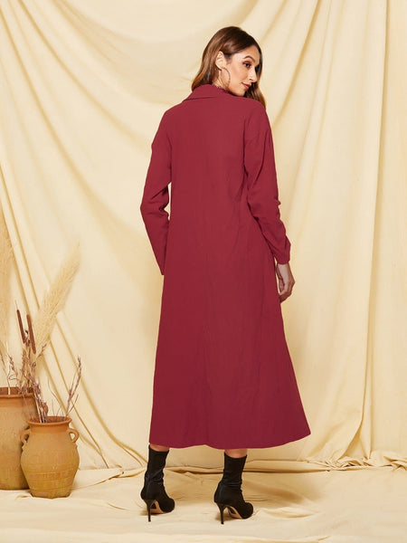 Double Button Pocket Side Trench Coat - FLJ CORPORATIONS