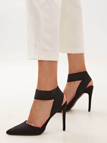 Point Toe Cross Strap Stiletto Heels - FLJ CORPORATIONS