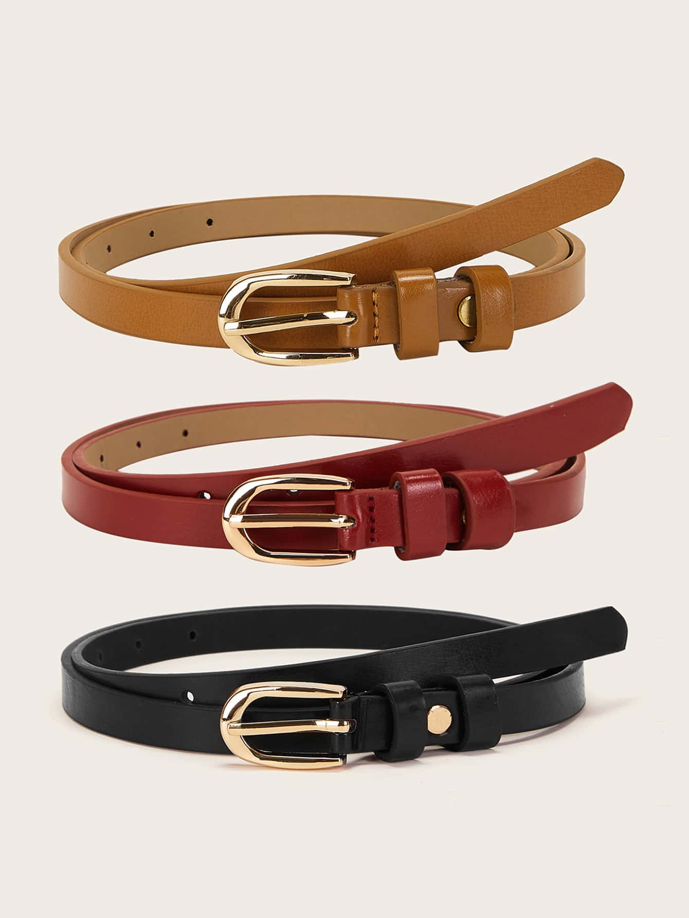 3pcs Skinny Buckle Belt - FLJ CORPORATIONS
