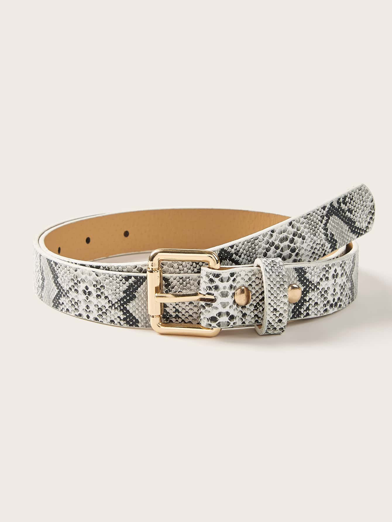 Snakeskin Pattern Buckle Belt - FLJ CORPORATIONS