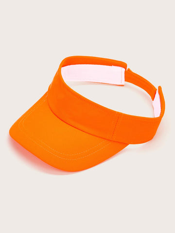 Fluorescent Orange Visor Hat - FLJ CORPORATIONS