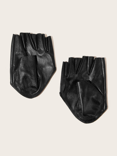 PU Leather Open Finger Gloves - FLJ CORPORATIONS
