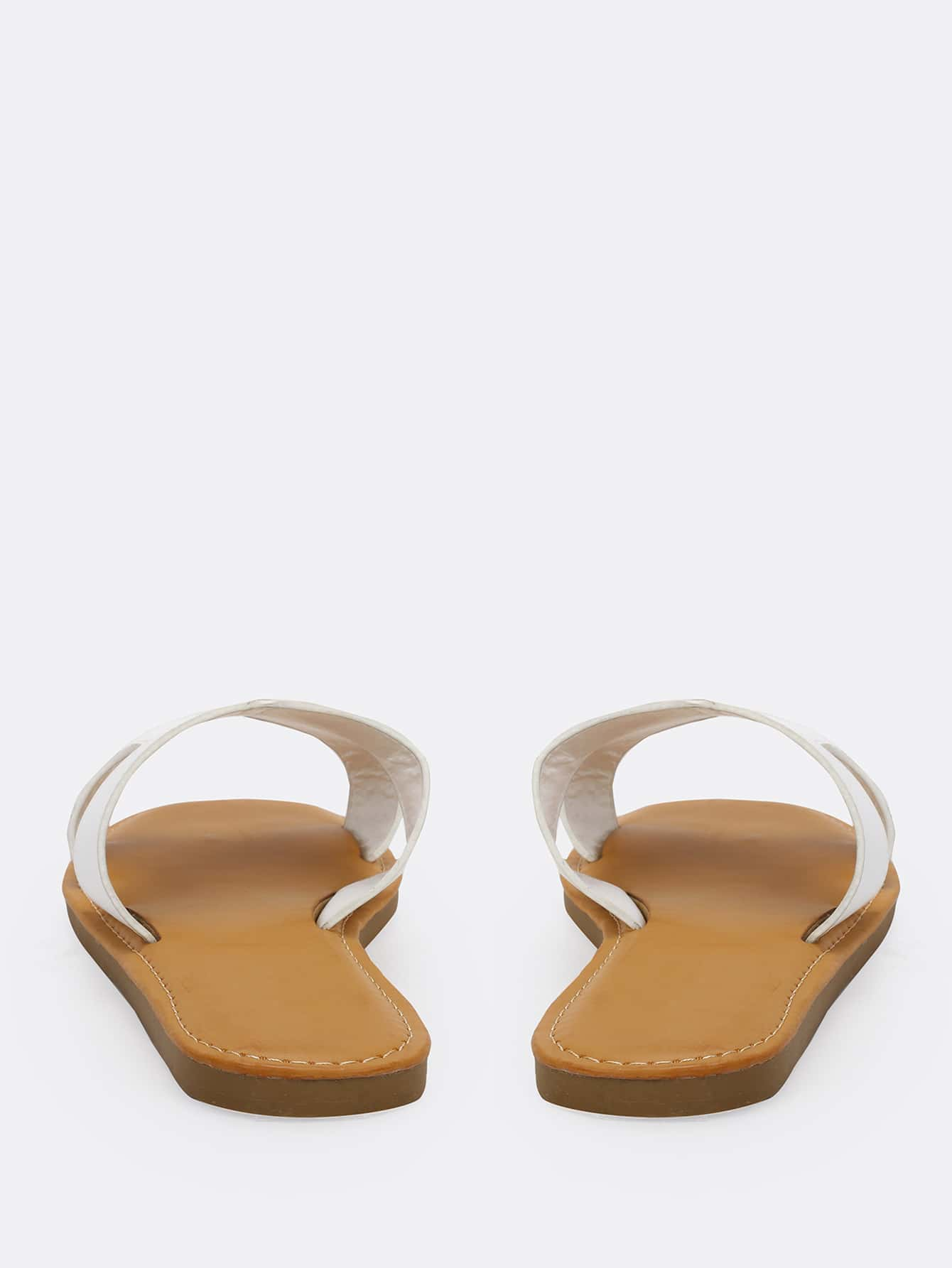 Single Band H Cut Out Slide Sandals - FLJ CORPORATIONS