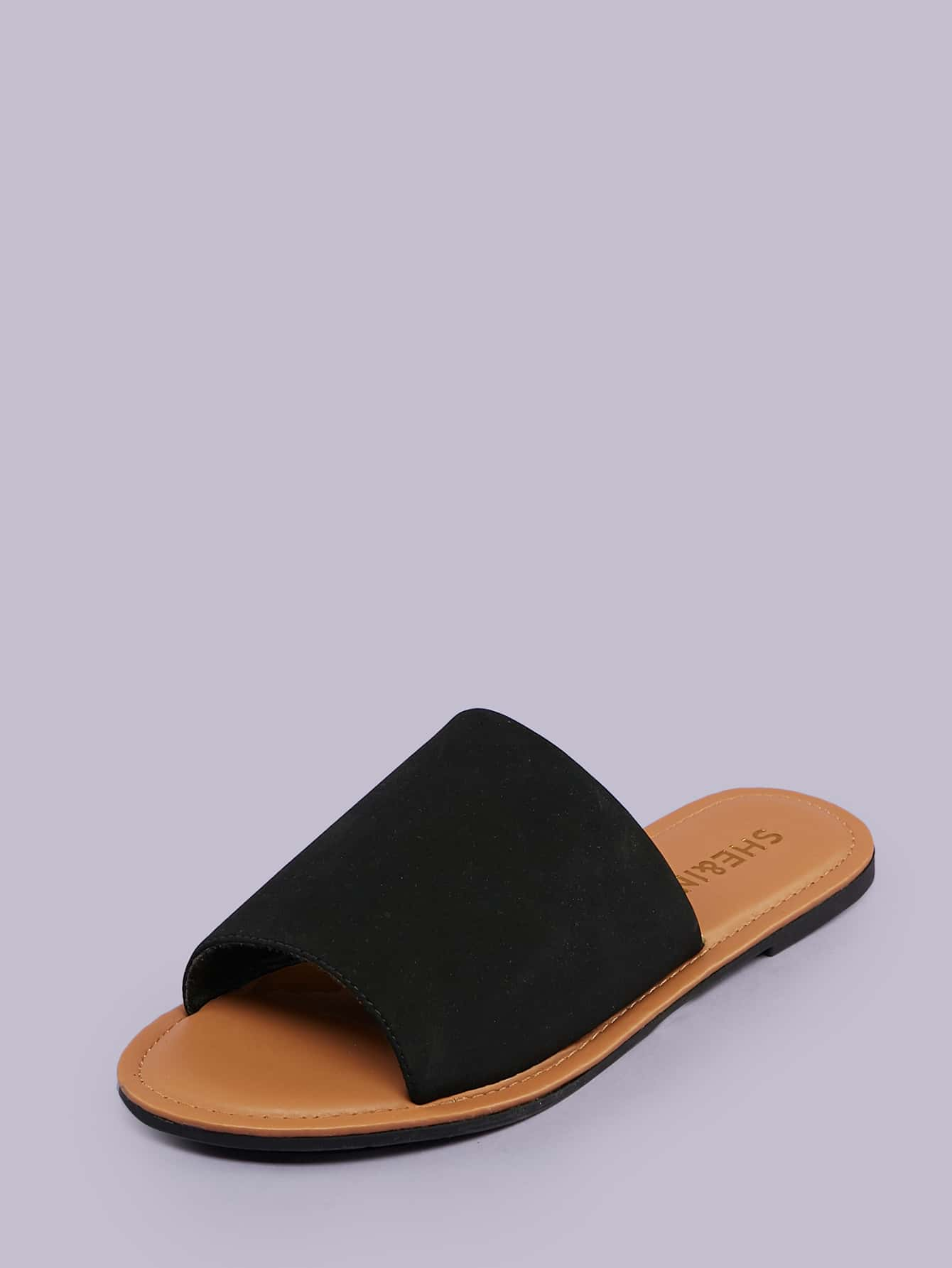 Open Toe Wide Band Flat Slide Sandals - FLJ CORPORATIONS