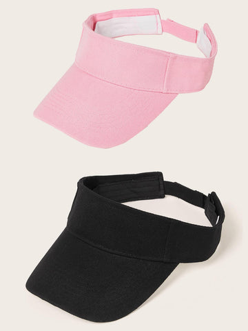 2pcs Solid Visor Hat - FLJ CORPORATIONS