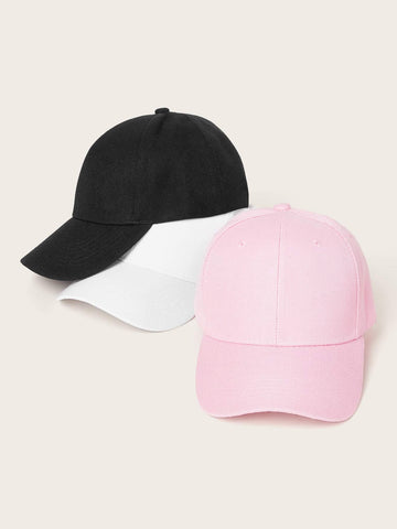 3pcs Solid Simple Baseball Caps - FLJ CORPORATIONS