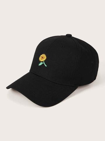 Sunflower Embroidery Baseball Cap - FLJ CORPORATIONS