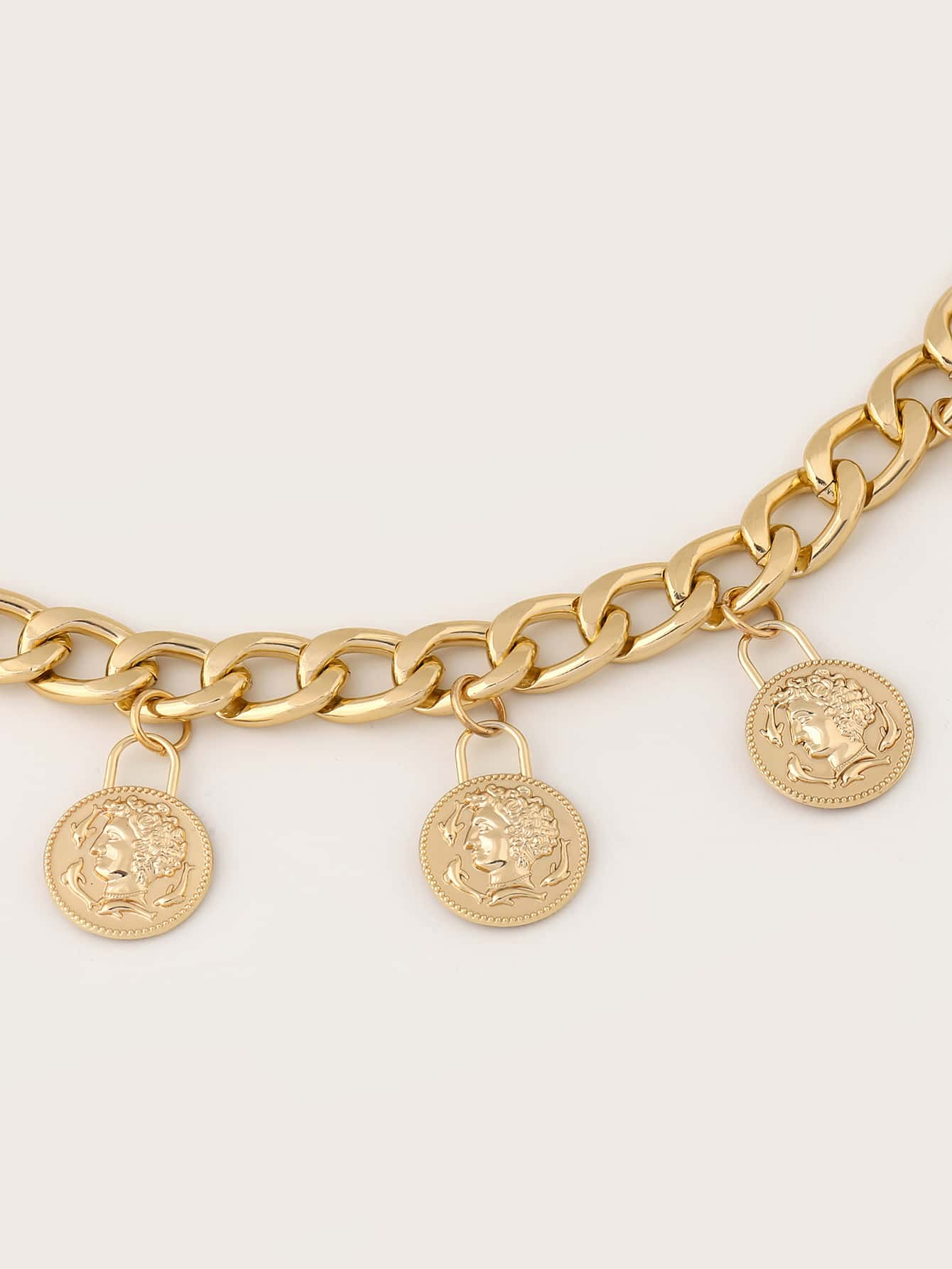 Coin Charm Layered Chain Belt - FLJ CORPORATIONS