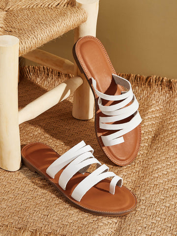 Toe Ring Strappy Sliders - FLJ CORPORATIONS