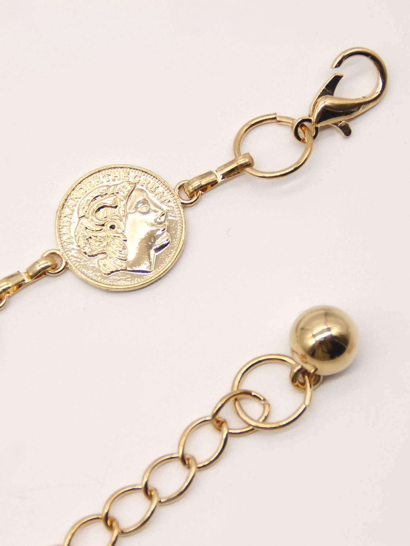 Figure Coin Decor Chain Belt - FLJ CORPORATIONS