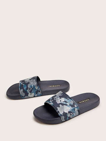 Men Camouflage Open Toe Sliders - FLJ CORPORATIONS