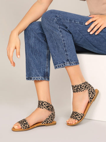 Stretchy Open Toe Ankle Strap Gladiator Sandals - FLJ CORPORATIONS