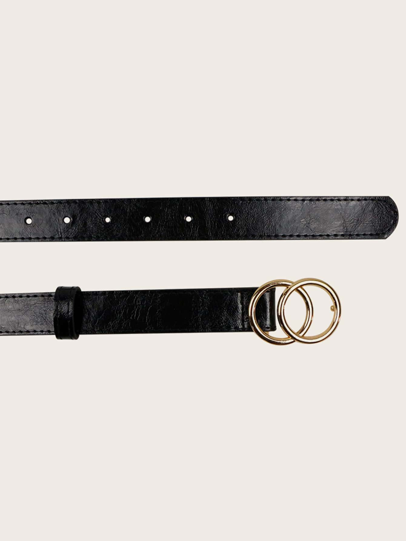 Double O-ring Buckle Belt - FLJ CORPORATIONS