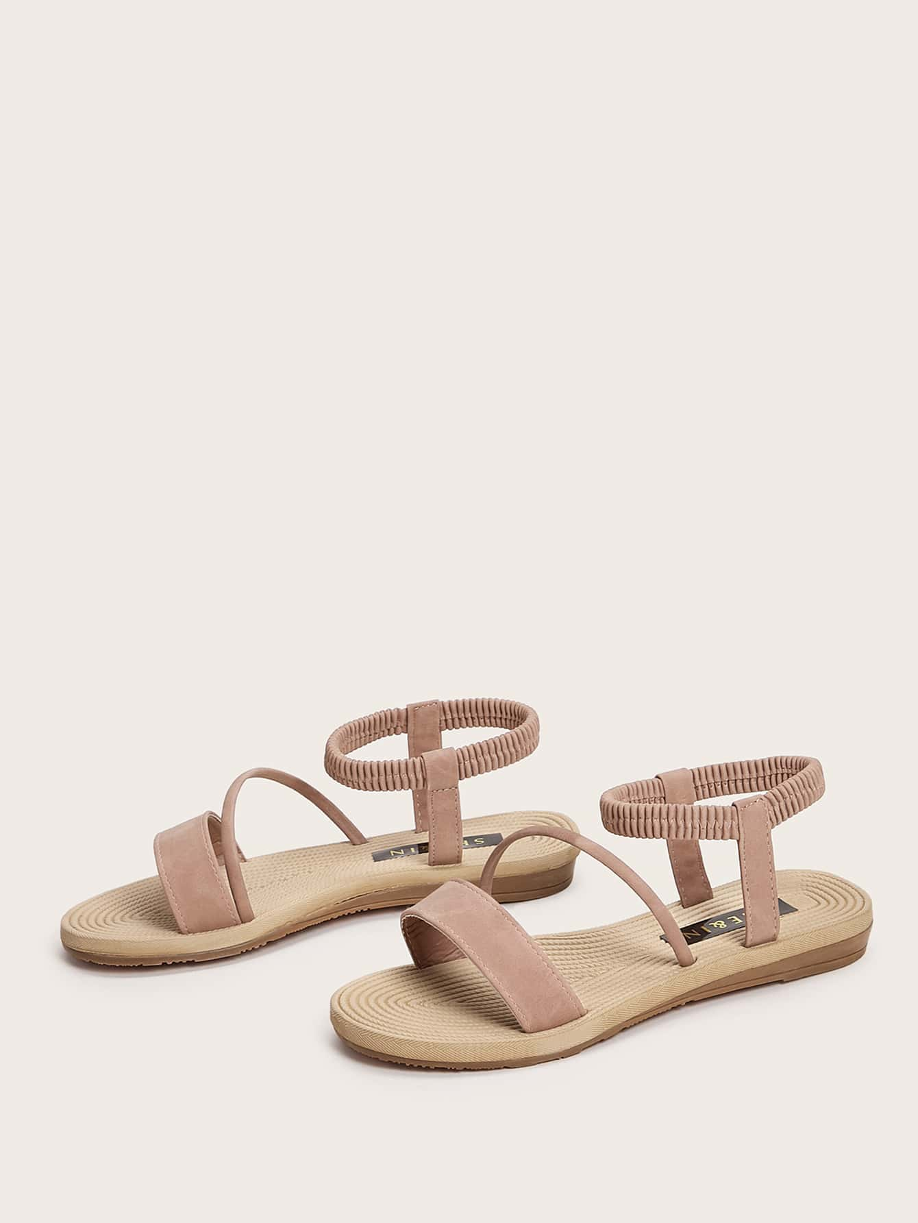 Wide Fit Ankle Strap Sandals - FLJ CORPORATIONS