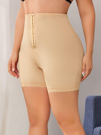 Plus Lace Trim Padded Shapewear Shorts - FLJ CORPORATIONS
